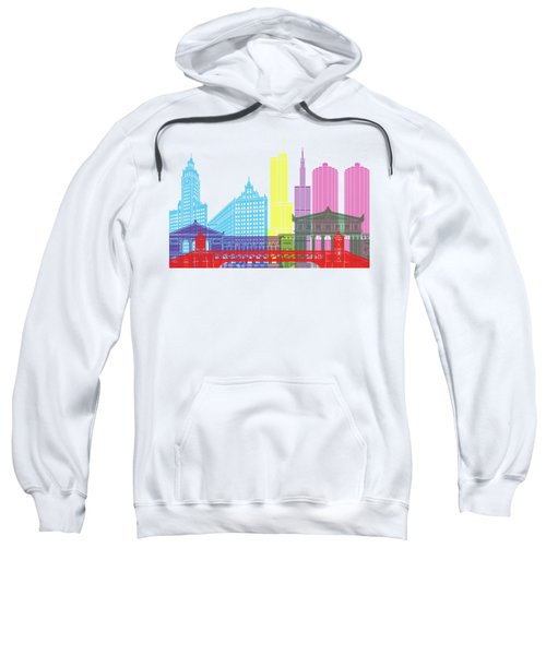 Chicago Skyline Pop Sweatshirt by Pablo Romero