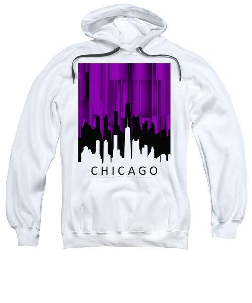 Chicago Violet Vertical  Sweatshirt by Alberto RuiZ