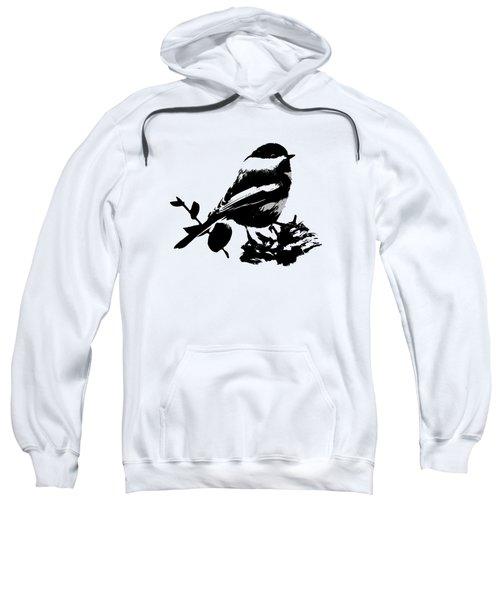 Chickadee Bird Pattern Sweatshirt by Christina Rollo