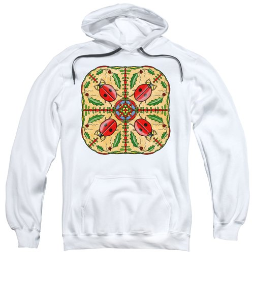 Christmas Ladybug Mandala Sweatshirt by Tanya Provines