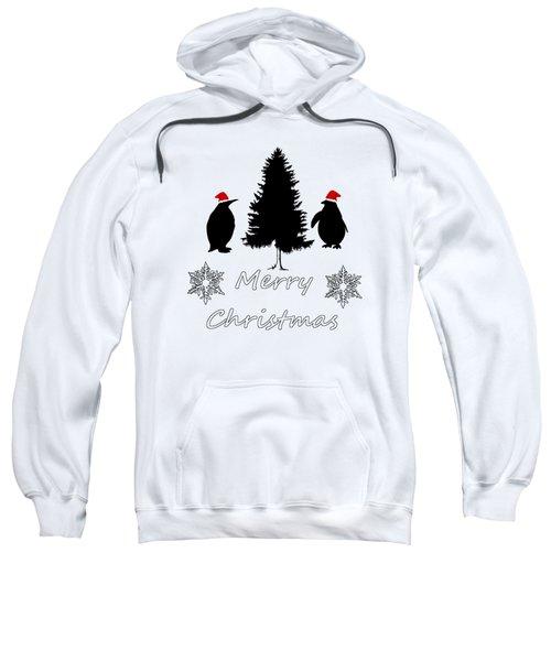 Christmas Penguins Sweatshirt by Mordax Furittus