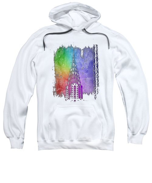Chrysler Spire Cool Rainbow 3 Dimensional Sweatshirt by Di Designs