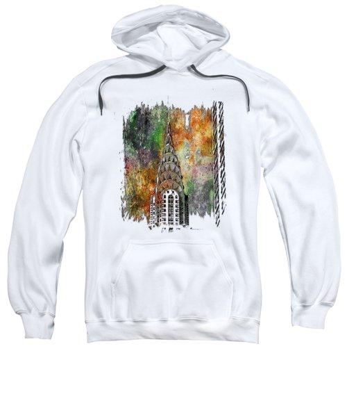 Chrysler Spire Muted Rainbow 3 Dimensional Sweatshirt by Di Designs