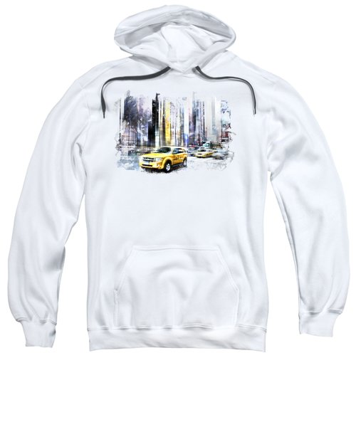 City-art Times Square II Sweatshirt by Melanie Viola