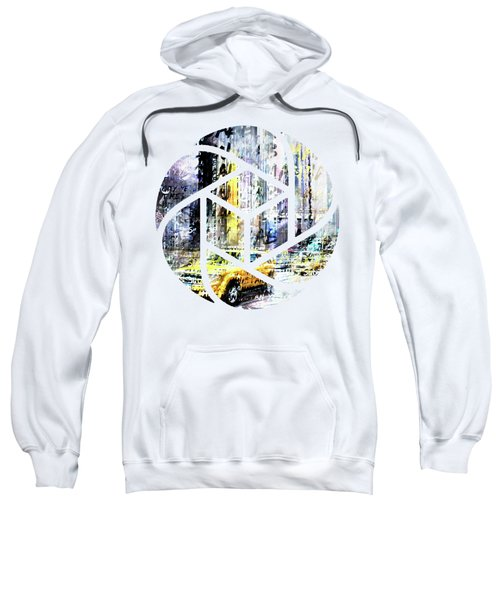 City-art Times Square Streetscene Sweatshirt by Melanie Viola