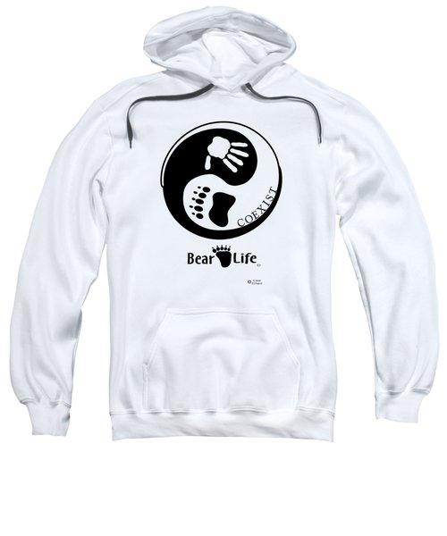 Coexist-yin Yang Bear Life Sweatshirt by PJ Jackson