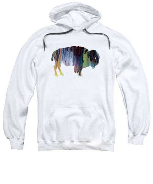 Colorful Bison Sweatshirt by Mordax Furittus