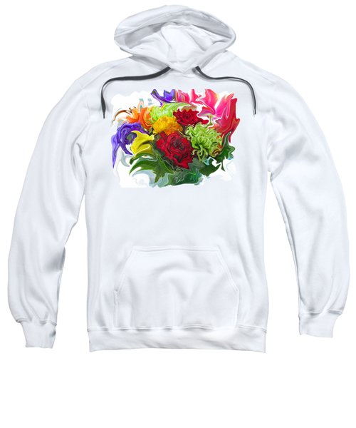 Colorful Bouquet Sweatshirt by Kathy Moll