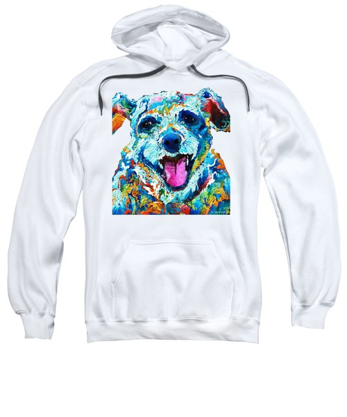 Colorful Dog Art - Smile - By Sharon Cummings Sweatshirt by Sharon Cummings