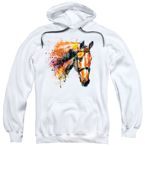 Colorful Horse Head Sweatshirt by Marian Voicu
