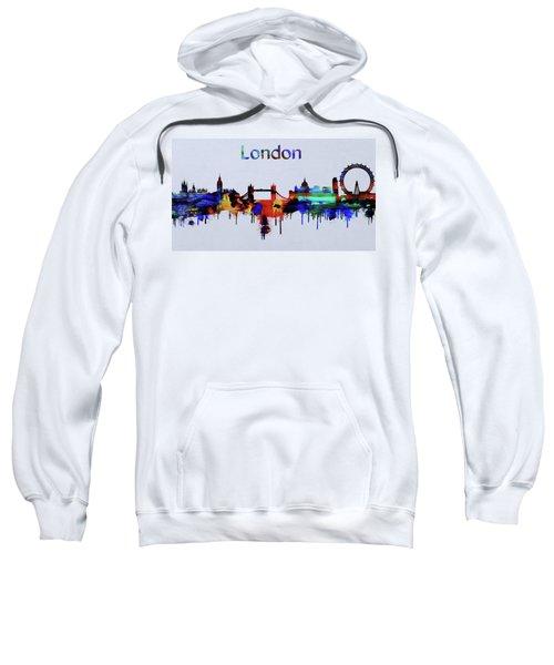 Colorful London Skyline Silhouette Sweatshirt by Dan Sproul