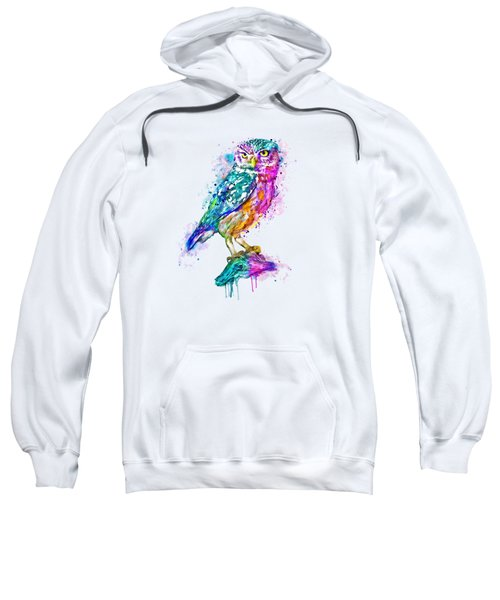 Colorful Owl Sweatshirt by Marian Voicu
