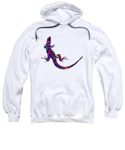 Colourful Lizard Sweatshirt by Bamalam  Photography
