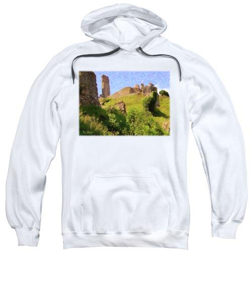 Corfe Castle Sweatshirt by Jon Delorme