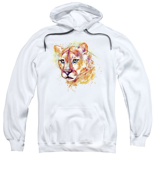Cougar Head Sweatshirt by Marian Voicu