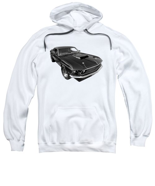 Coz I Can Black And White Sweatshirt by Gill Billington