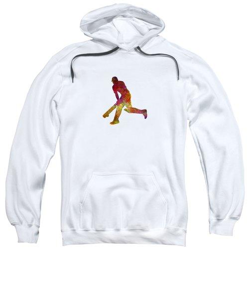 Cricket Player Batsman Silhouette 03 Sweatshirt by Pablo Romero