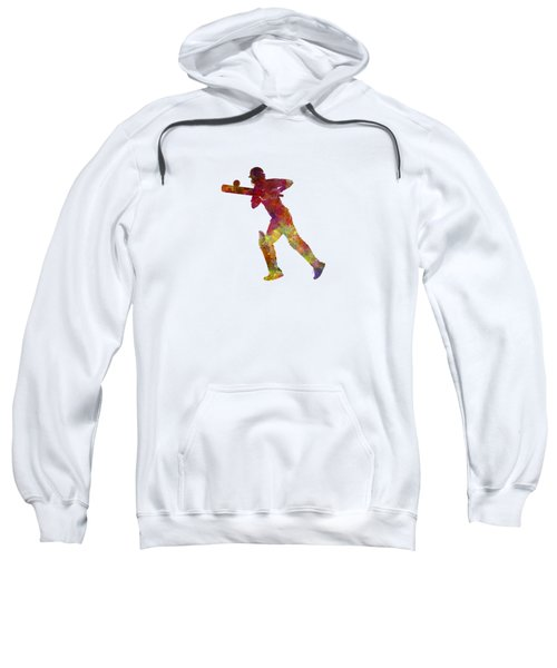 Cricket Player Batsman Silhouette 06 Sweatshirt by Pablo Romero