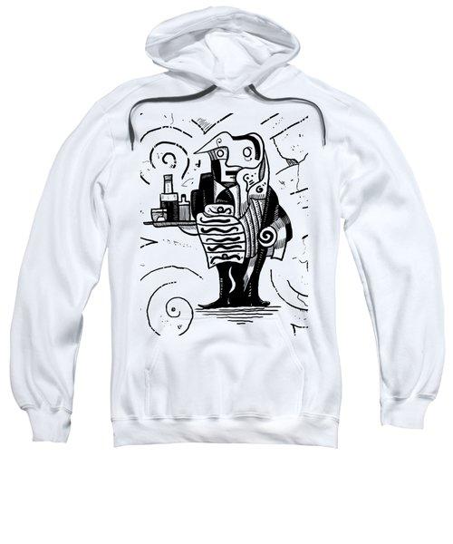 Cubist Waiter Sweatshirt by Sotuland Art