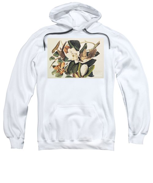 Cuckoo On Magnolia Grandiflora Sweatshirt by John James Audubon