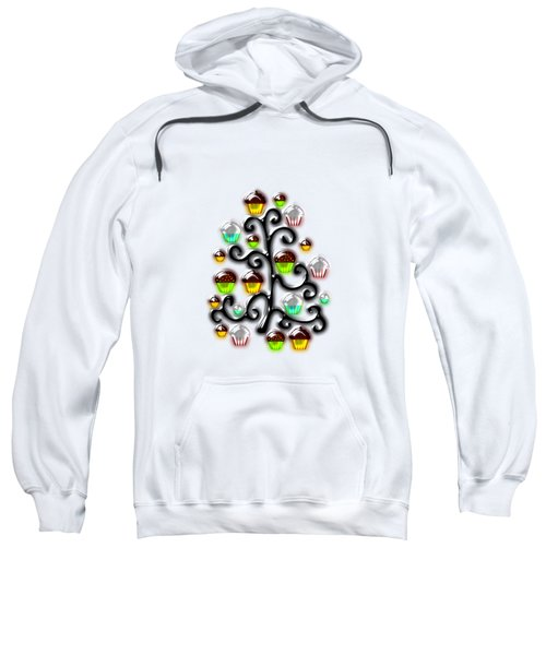 Cupcake Glass Tree Sweatshirt by Anastasiya Malakhova
