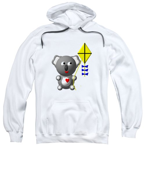Cute Koala With Kite Sweatshirt by Rose Santuci-Sofranko