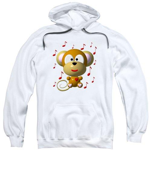 Cute Musical Monkey Sweatshirt by Rose Santuci-Sofranko