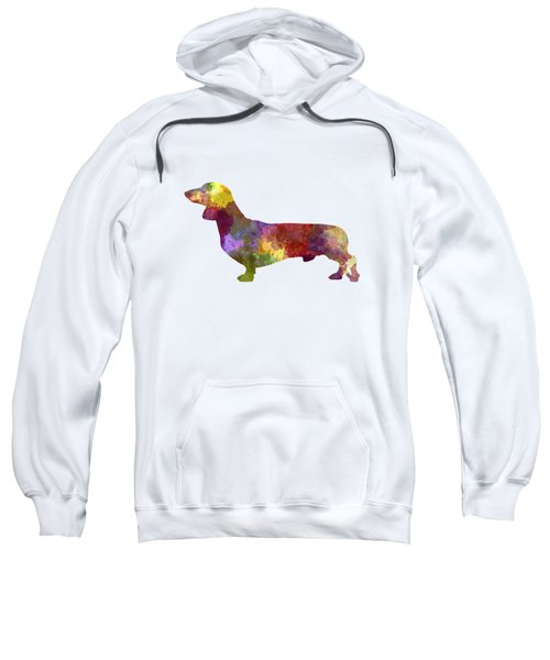 Dachshund In Watercolor Sweatshirt by Pablo Romero