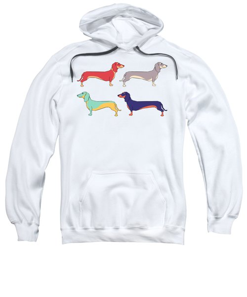 Dachshunds Sweatshirt by Kelly Jade King