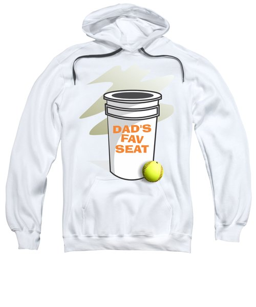 Dad's Fav Seat Sweatshirt by Jerry Watkins