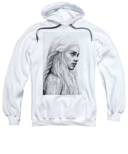 Daenerys Watercolor Portrait Sweatshirt by Olga Shvartsur
