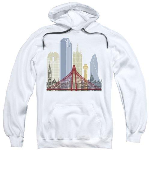 Dallas Skyline Poster Sweatshirt by Pablo Romero