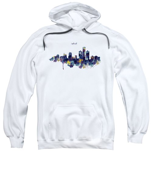 Detroit Skyline Silhouette Sweatshirt by Marian Voicu