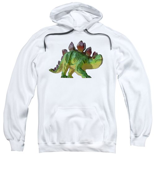 Dino Stegosaurus Sweatshirt by Miroslav Nemecek