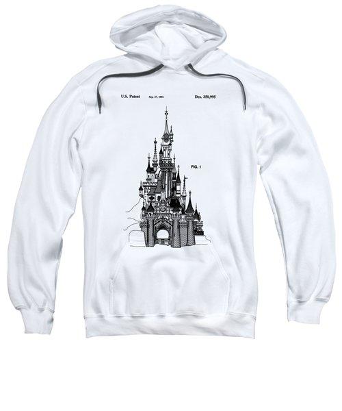 Disneyland Castle Patent Art Sweatshirt by Safran Fine Art