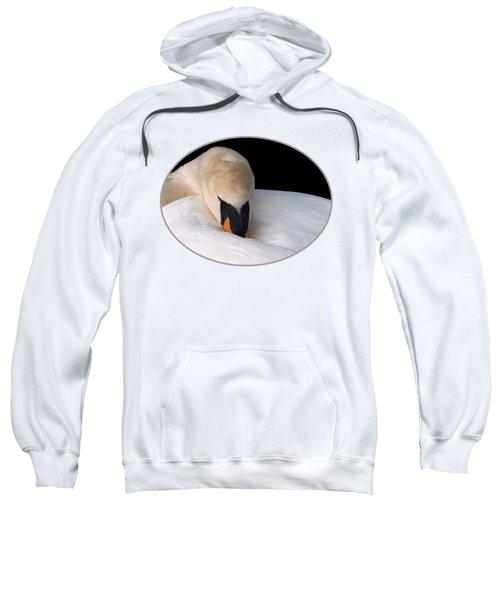 Do Not Disturb - Swan On Nest Sweatshirt by Gill Billington