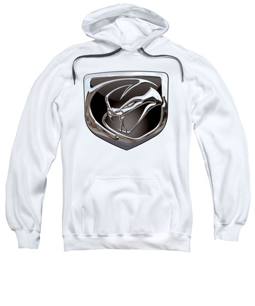 Dodge Viper 3 D  Badge Special Edition On White Sweatshirt by Serge Averbukh