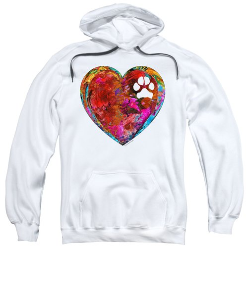 Dog Art - Puppy Love 2 - Sharon Cummings Sweatshirt by Sharon Cummings