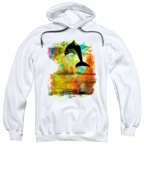 Dolphin Sunset Sweatshirt by Kevin Moore
