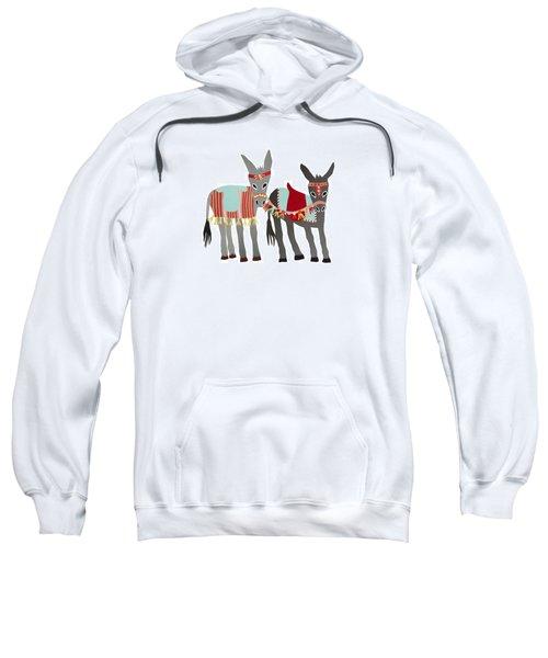 Donkeys Sweatshirt by Isoebl Barber