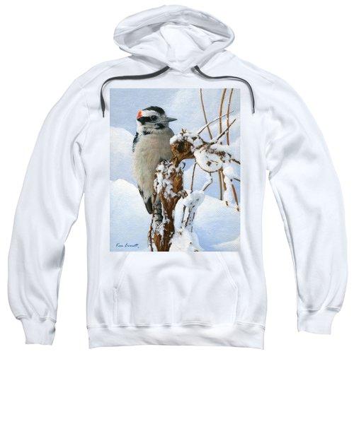 Downy Woodpecker  Sweatshirt by Ken Everett