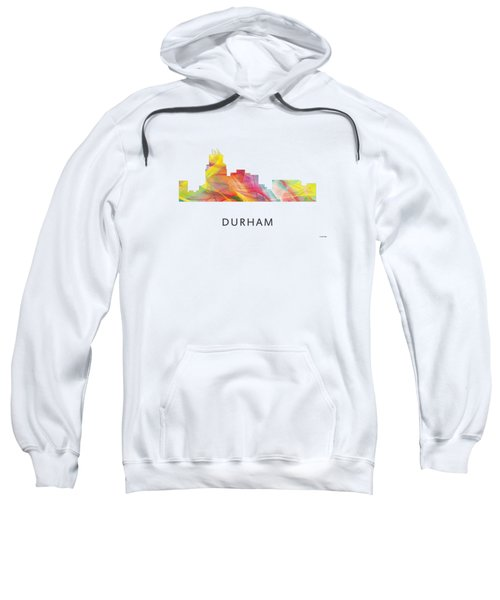 Durham North Carolina Skyline Sweatshirt by Marlene Watson