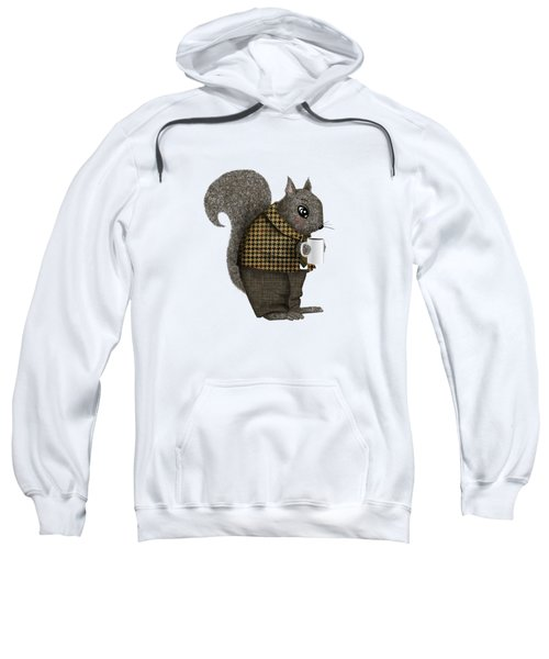 Early Morning For Mister Squirrel Sweatshirt by Little Bunny Sunshine