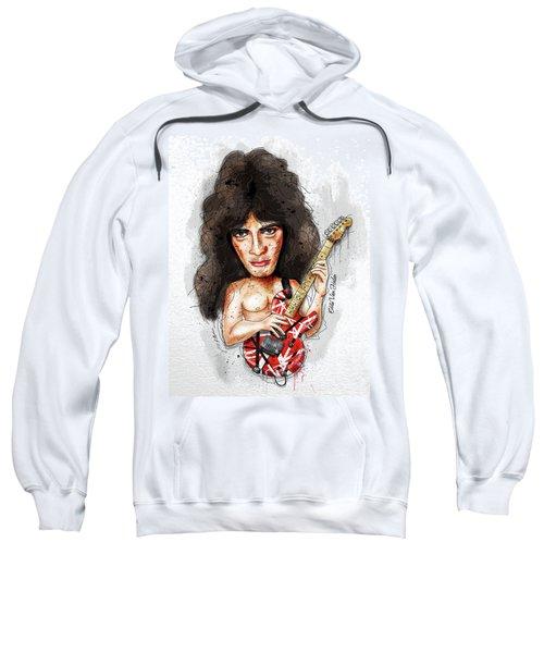 Eddie Van Halen Sweatshirt by Gary Bodnar