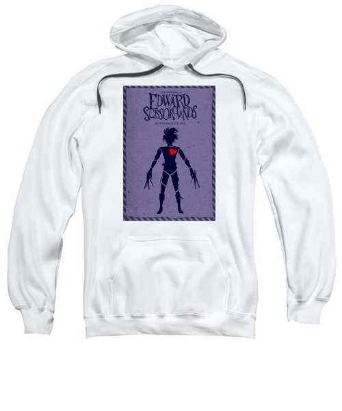 Edward Scissorhands Alternative Poster Sweatshirt by Christopher Ables