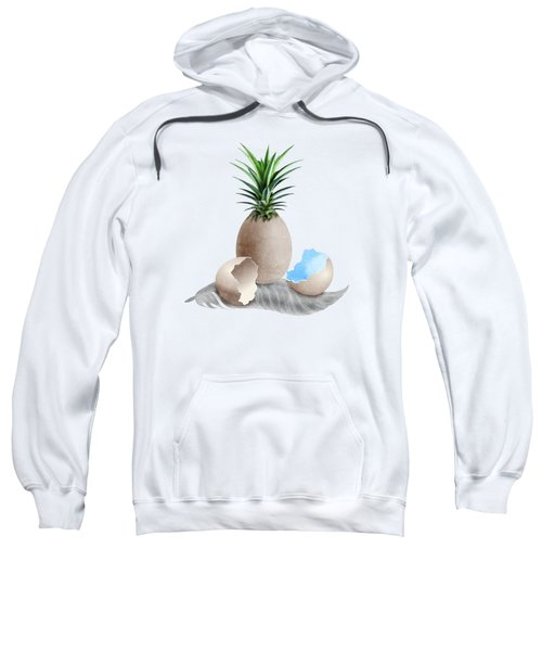 Eggs On A Feather Sweatshirt by Absentis Designs