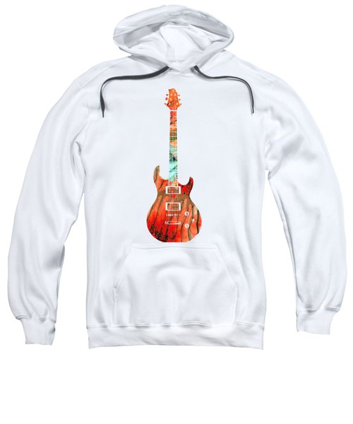 Electric Guitar 2 - Buy Colorful Abstract Musical Instrument Sweatshirt by Sharon Cummings