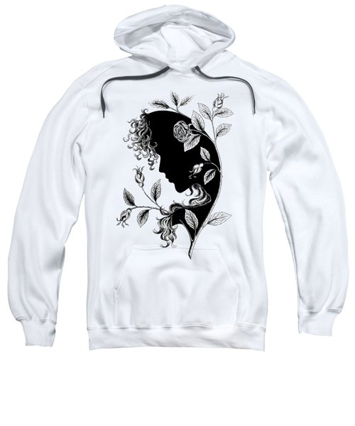 Elf In Roses Sweatshirt by Magdalene's Art