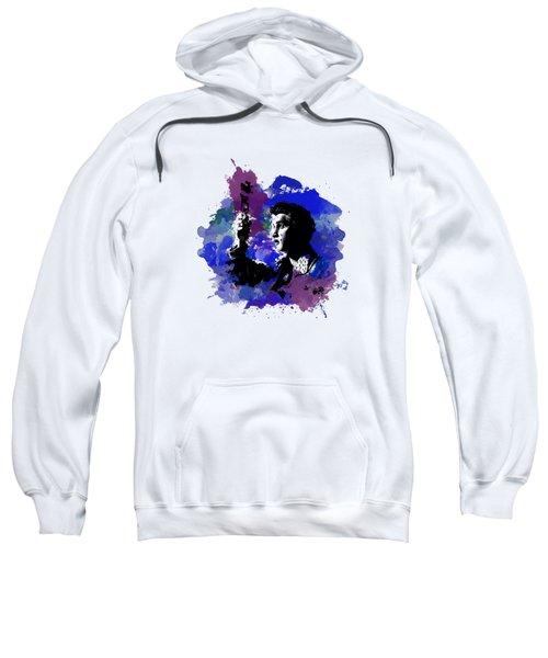 Elvis Color Splash Sweatshirt by Ryan Anderson