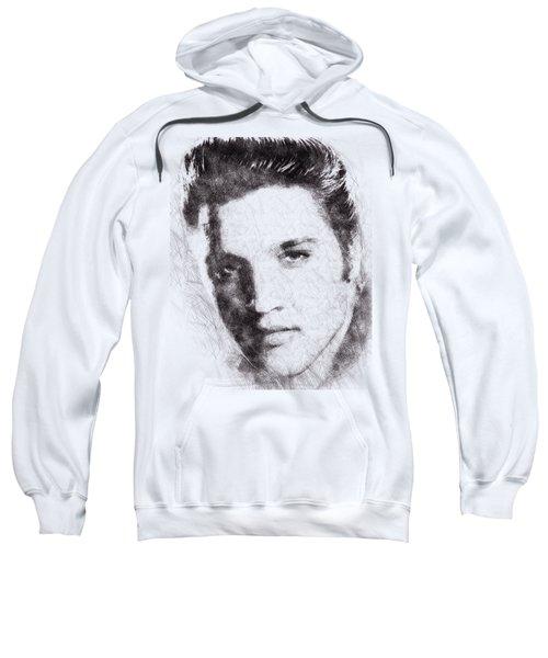 Elvis Presley Portrait 02 Sweatshirt by Pablo Romero